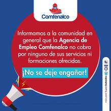 Comunicado Agencia de Empleos Comfenalco