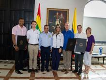 La Alcaldía Mayor de Cartagena hace reconocimiento como huéspedes ilustres a miembros de la NSULA
