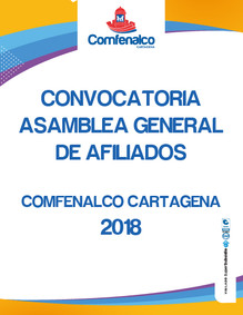 CONVOCATORIA ASAMBLEA GENERAL ORDINARIA DE AFILIADOS A CAJA DE COMPENSACIÓN FAMILIAR DE COMFENALCO