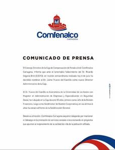 El Consejo Directivo de la Caja de Compensación de Fenalco Andi Comfenalco Cartagena