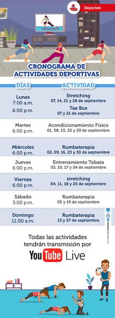 Cronograma de actividades deportivas