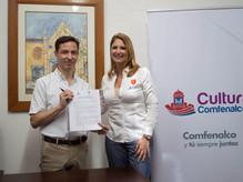Comfenalco y UNIBAC firman nuevo convenio para fortalecer sus programas de cultura