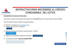 Instructivo inscripción al crédito condonable ICETEX en programas técnico laborales de Cedesarrollo