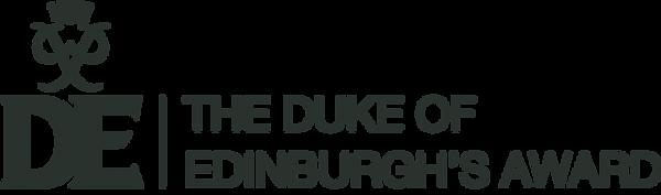 DofE Full logo plus descriptor gunmetal.