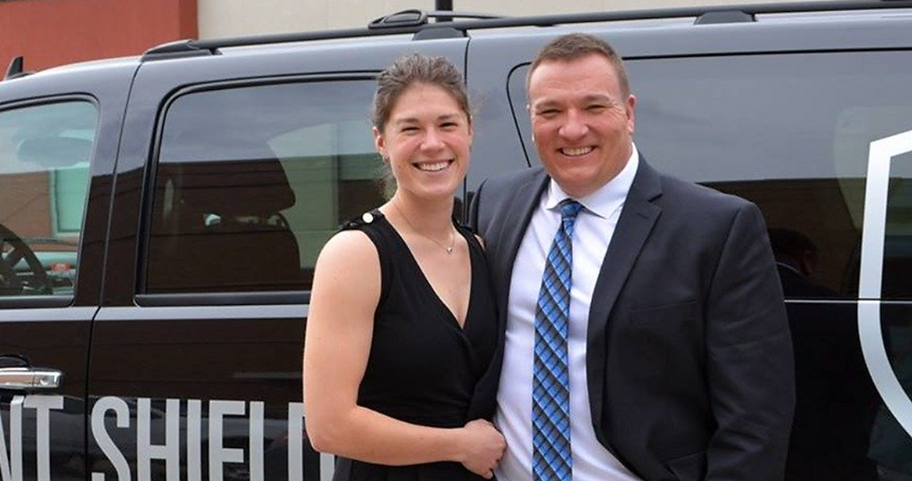 Owners Lauren and Jason Perry of Trident Shield
