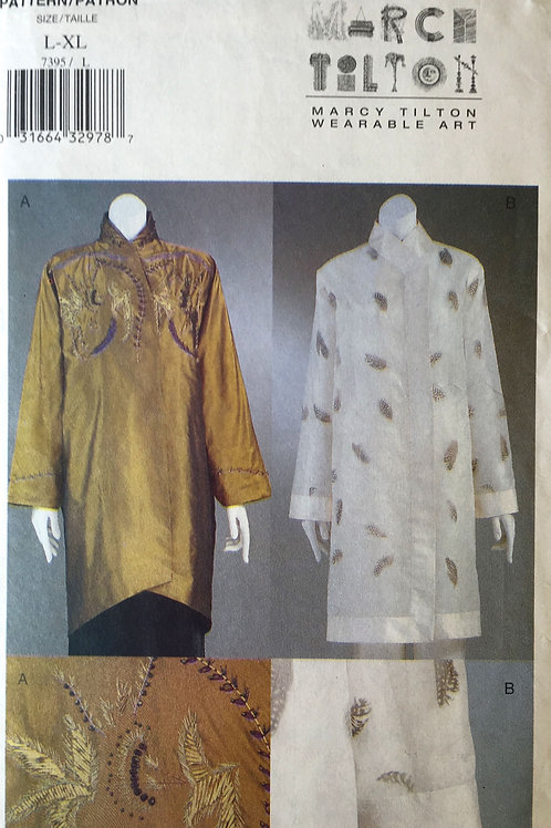 Vogue 7395 Marcie Tilton wearable art jackets
