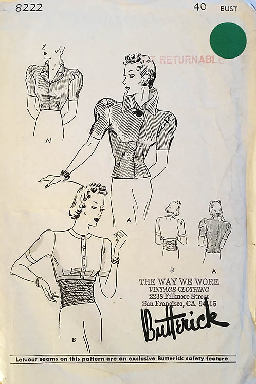 Butterick 8222. Three hollywood ready 1930s blouses