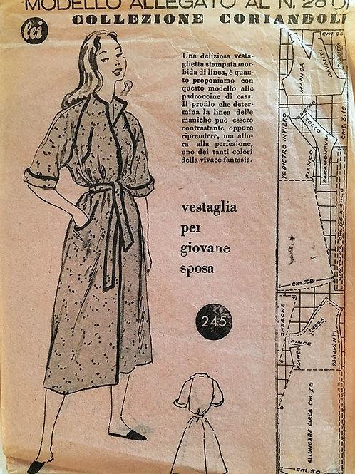 MOdello Allegato No. 28, Ladies wrap style robe
