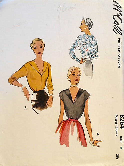 McCall 8264 Classicl vintage blouses from the 40s