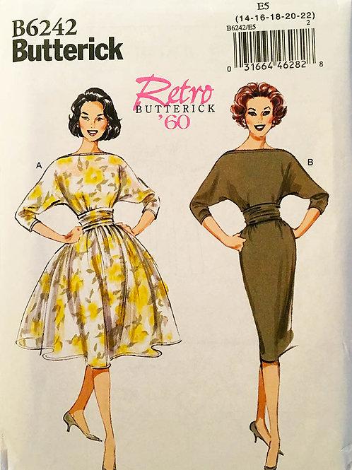 Butterick B 6242, Re-issue 1960 pattern.