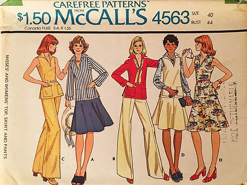 McCalls 4563 retro 1970s wardrobe