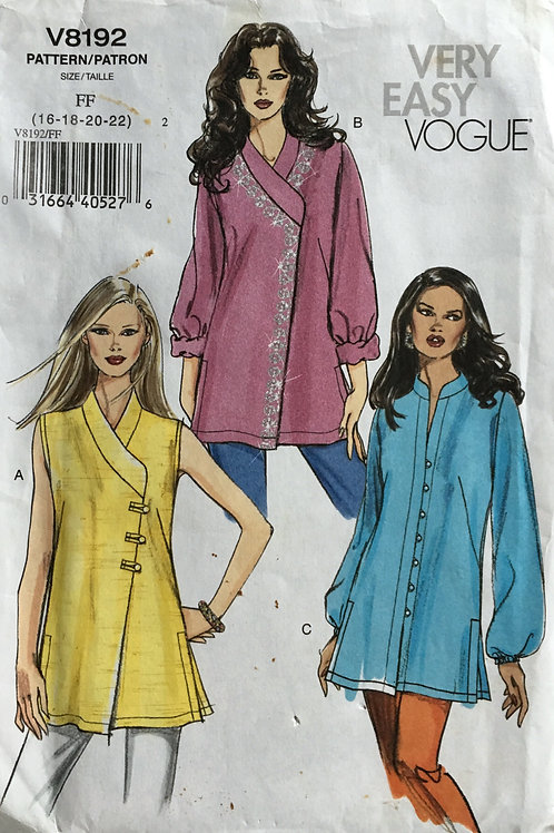 Vogue 8192 Indian style tunic variations