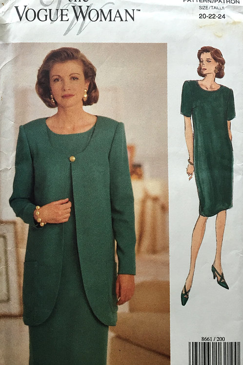 Vogue woman 8661. Plus size dress and jacket