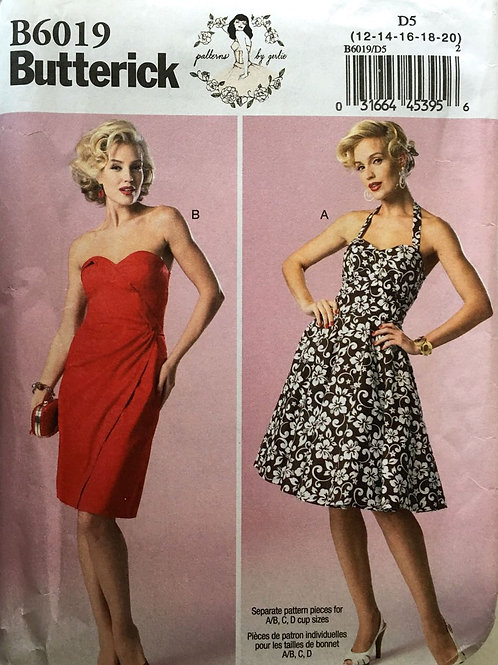 Butterick 6019, by Gertie. Bustier style dress with sweetheart neckline