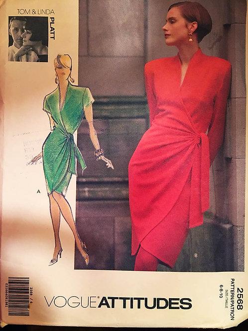 Vogue Designer 2568. Tom and Linda Platt. Wrap dress
