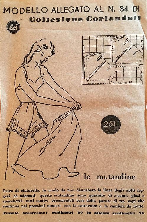 Modello Allegato No. 34 Ladies Tap Pants Pattern