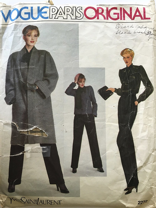 Vogue Paris Original 2272 Yves Saint Laurent