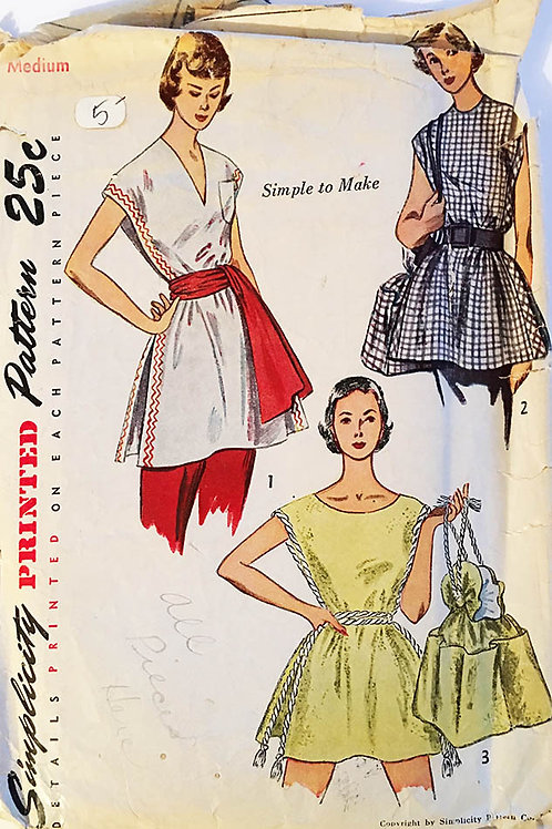 Simplicity Tunic and Bag, 1940s orig. pattern.