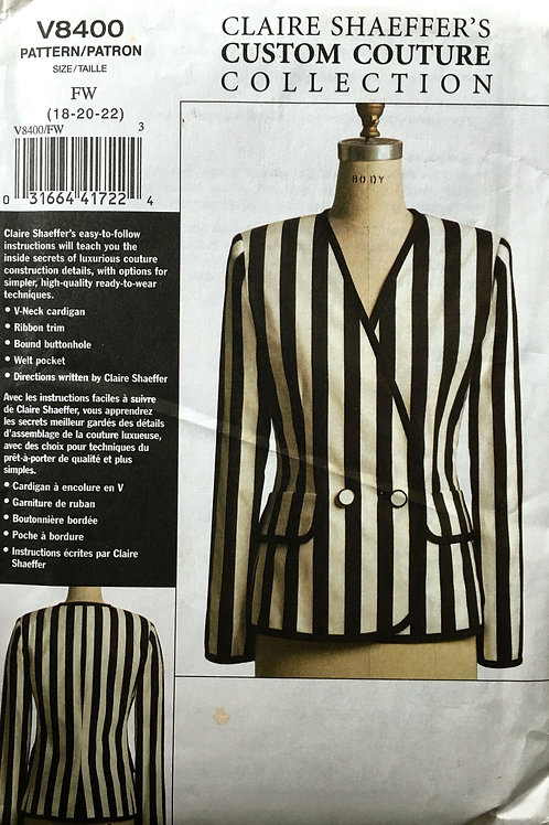 Vogue 8400 Claire Shaeffer custom couture blazer