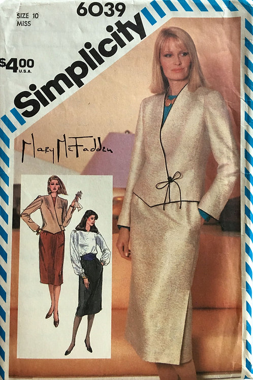 Mary McFadden jacket and skirt pattern