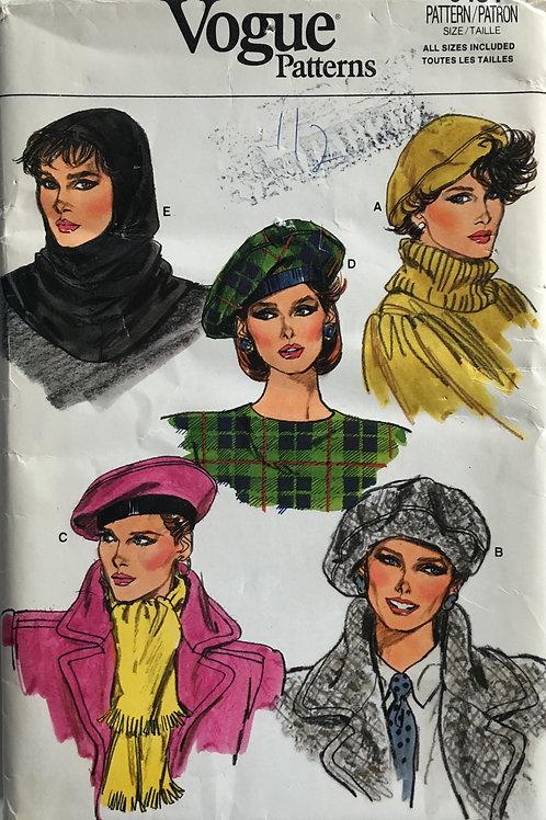 Vogue 9454 Tam and Beret variations