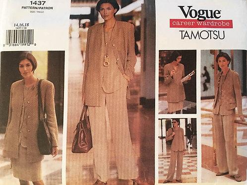 Vogue 1347 Tomatsu Career Separates. Five Pieces