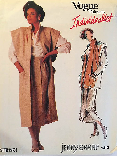 Vogue 1412 Jenny Sharp 80s.Individualist Designer.