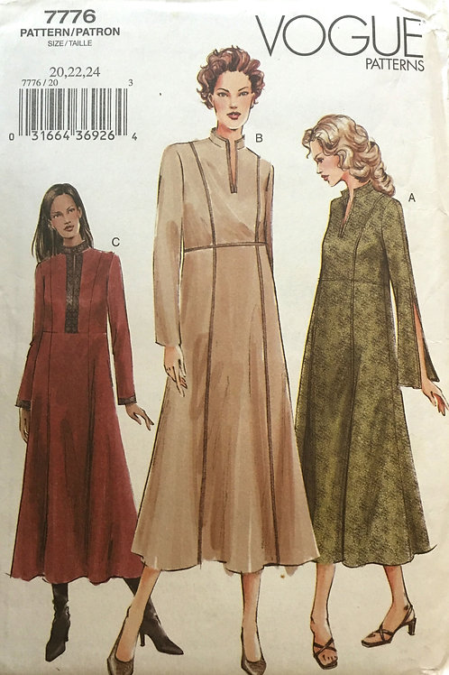 Vogue 7776 Long tunic dress variations