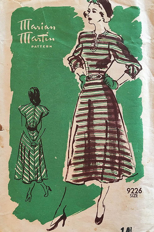 Marian Martin 9226. Retro 1950 Bias dress.