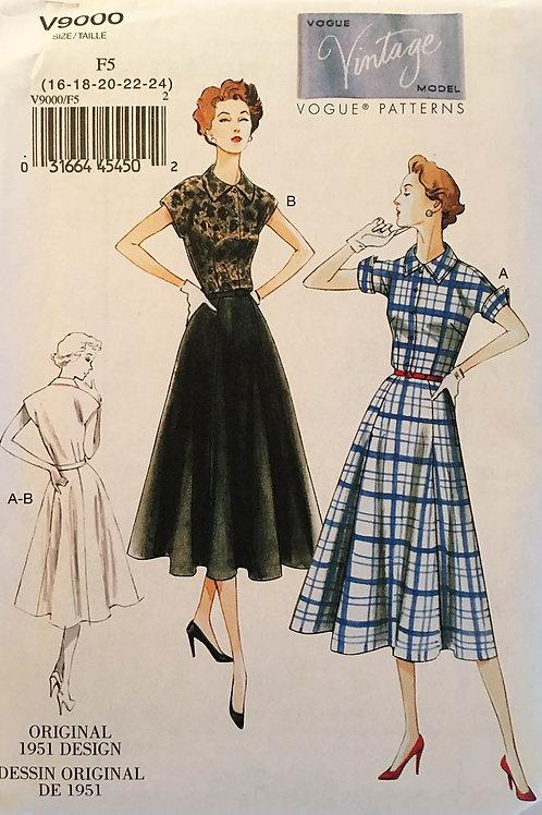 Vogue Vintage Model 9000 Shirtdress
