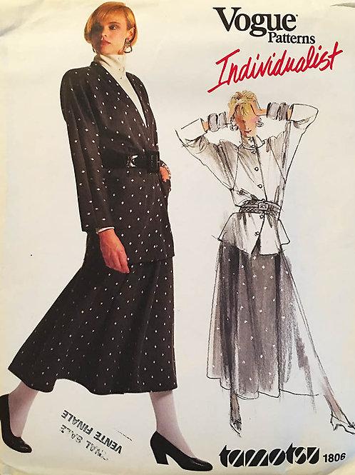 Vogue Individualist 1806. Tomatsu Jacket, Skirt and top.