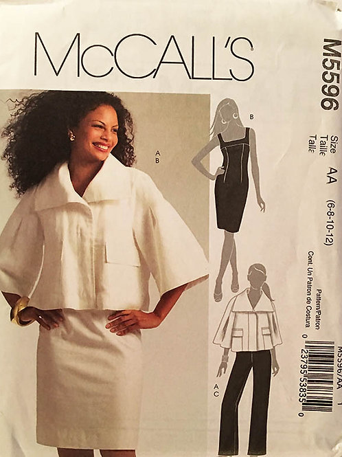 McCall's 5596. Slim summer dress and loose artsy jacket