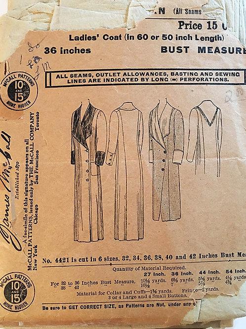 James McCall 4421. AntiqueLadies overcoat