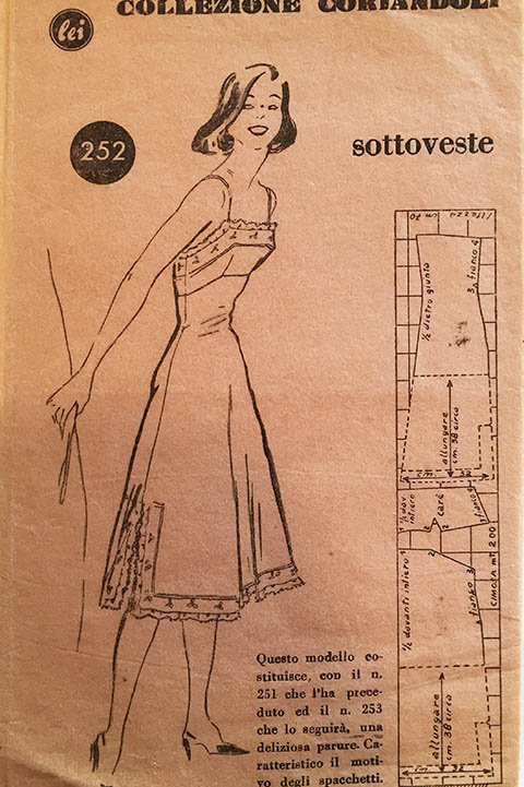 Modello Allegato No. 35. Ladies Slip pattern