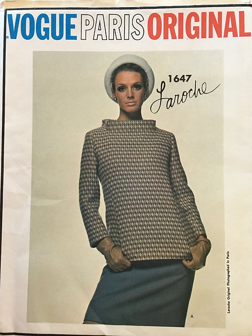 Vogue Paris Original 1647. Laroche. dress and funnel-neck jacket