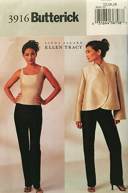 Butterick 3916. Ellen Tracy separates for evening/dinner party