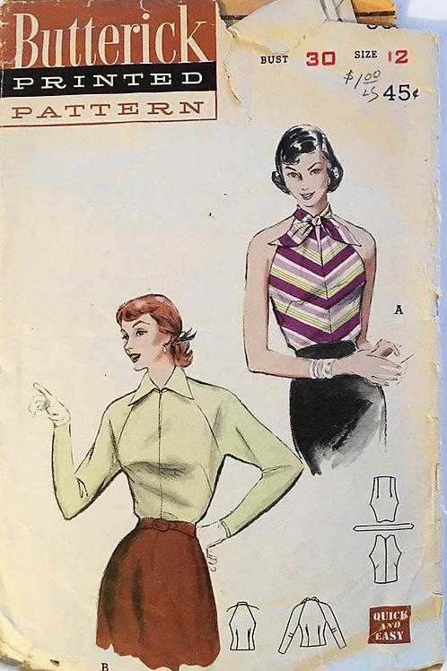 Butterick 1950s tops