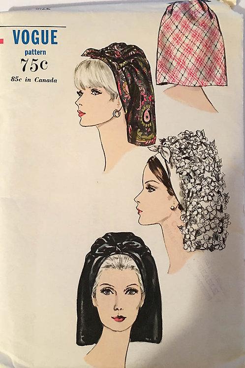 Vogue 6805 retro 1960s head scarves