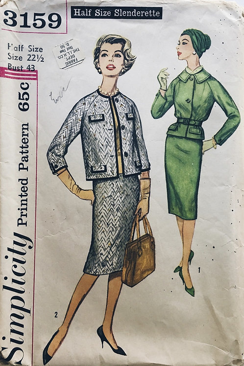 Simplicity 3159 retro women's suits