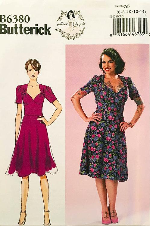 Butterick B 6380, Retro dress designs by Gertie.