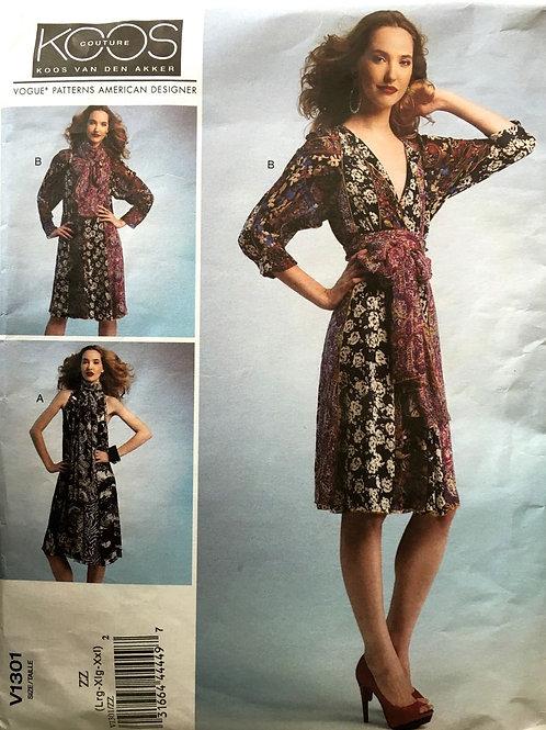 Vogue 1301 Koos Couture multi-panel dress