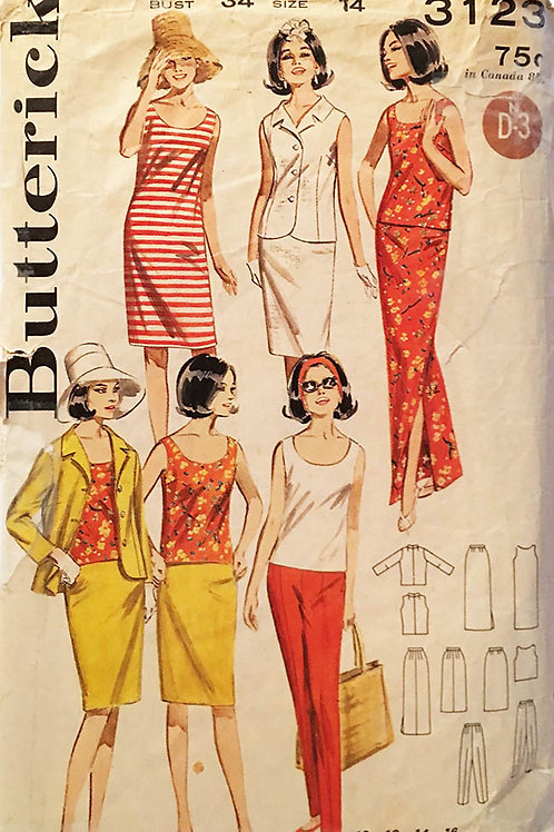Butterick 3123. Huge vintage wardrobe.