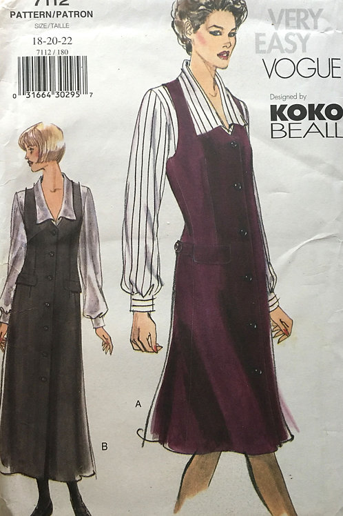 Vogue 7112. Koko Beall. Button front jumper and Blouse
