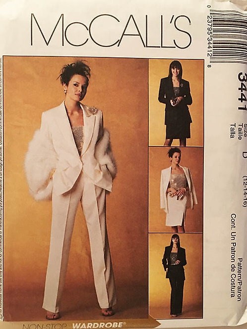 McCalls 3441. Tailored 4-piece suit from 2001.