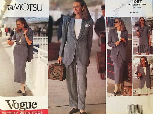 Vogue 1087 Tomatsu Separates. Big jacket, pencil skirt, dress