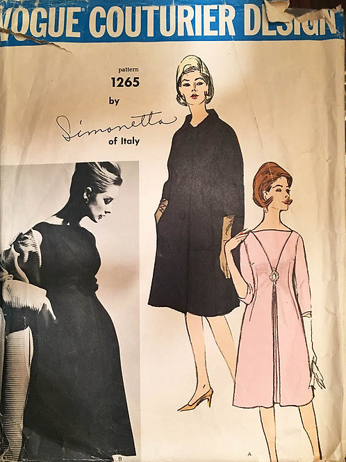 Vogue Couturier 1265 Simonetta of Italy dress and coat