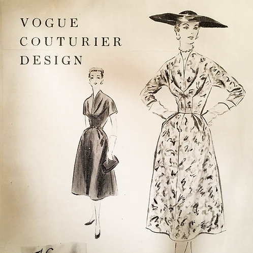 Vogue Couturier 791 full-skirted dress. 1954.