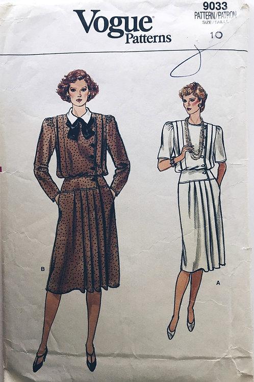 Vogue 9033 blouson dress