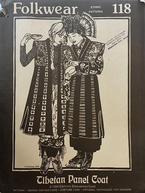 Folkwear Tibetan Panel Coat