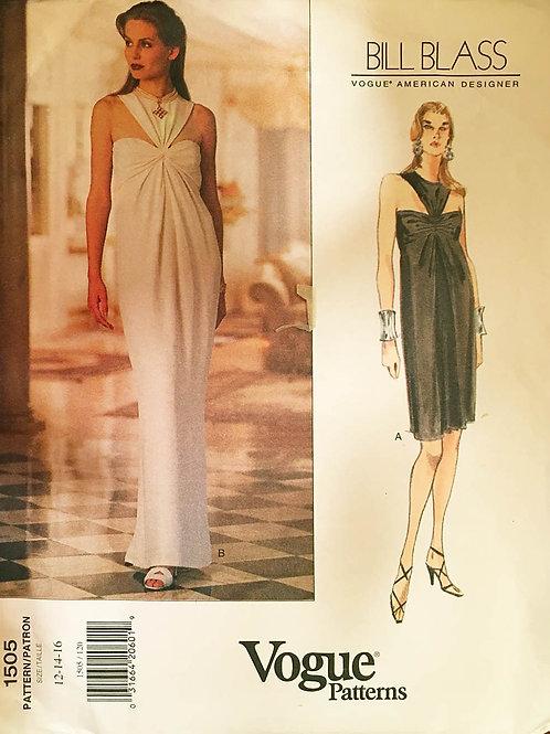 Vogue 1505 Bill Blass evening gown